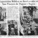 Exitosa exposición bíblica itinerante en San Vicente de Tagua Tagua