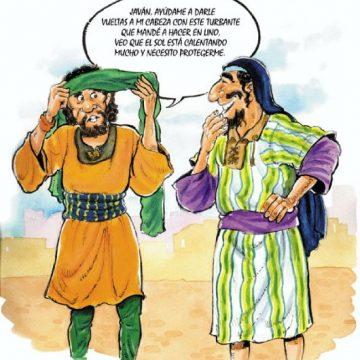 Los judíos siempre usaban turbante en público, porque en ciertas estaciones del año en Palestina era peligroso exponer la cabeza a los ardientes rayos del sol. Estos turbantes eran hechos de material grueso y se pasaba varias veces alrededor de la cabeza. Eran bastante parecidos a nuestros pañuelos y se hacían de lino. Ahora se fabrican de algodón. El patriarca Lot y el profeta Isaías mencionan el uso de turbantes como tocado. Actualmente, en lugar de turbante, los árabes de Palestina usan un velo en la cabeza que llaman kaffieh, el cual cuelga sobre parte de sus vestidos